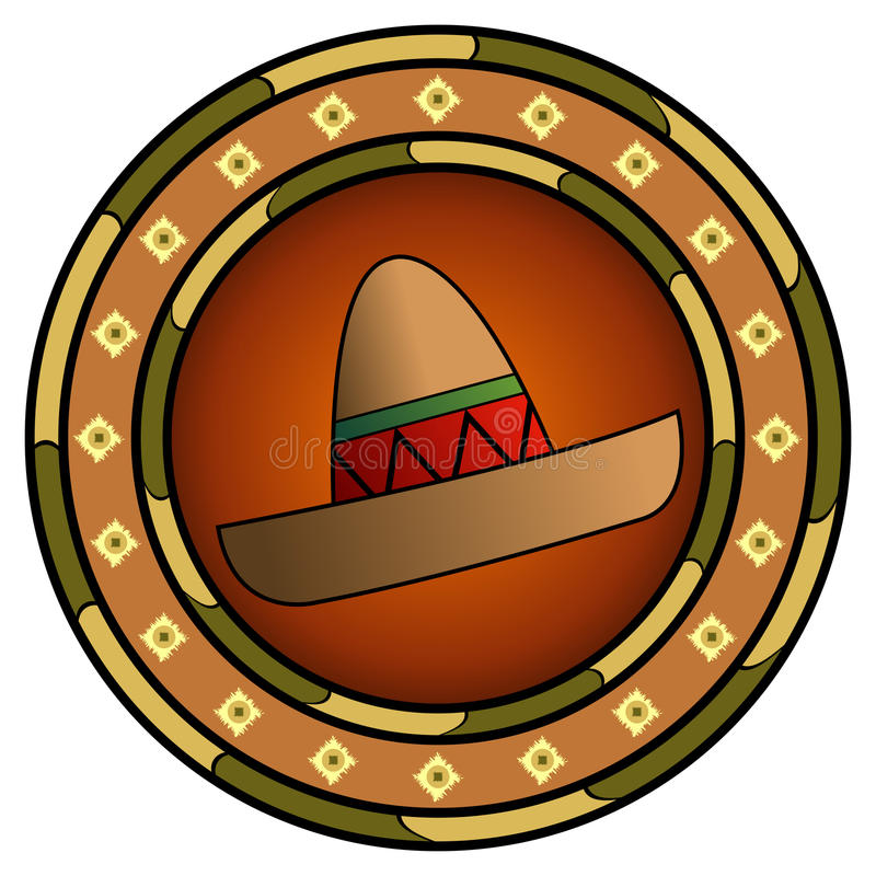 Mexican sombrero logo royalty free illustration