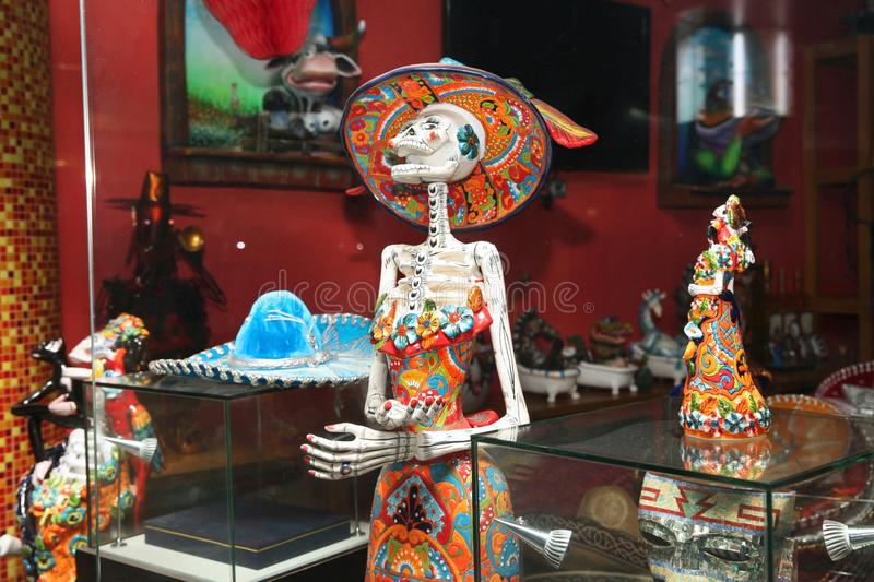 Mexican Souvenirs, large selection in the gift shop royalty free stock photography