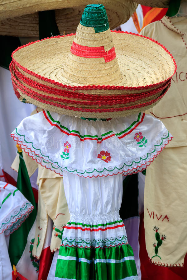 Mexican Souvenirs. In street market stock image