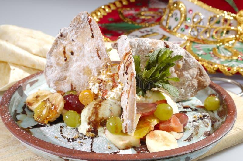 Mexican speciality sweet Hellado stock photos