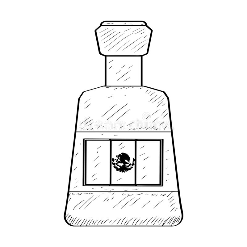 Mexican spicy sauce - Outline royalty free illustration