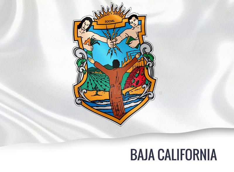 Download Mexican State Baja California Flag Stock Illustration