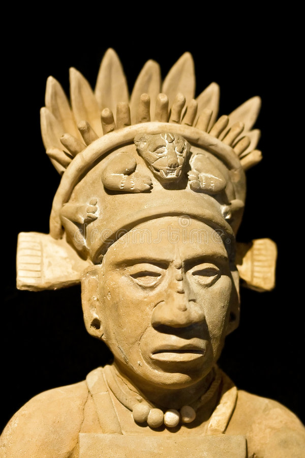 Mexican statue. Of a noble man stock images