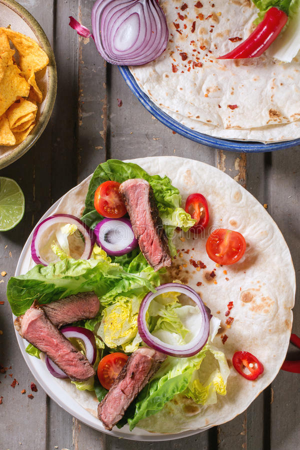 Mexican style dinner stock images