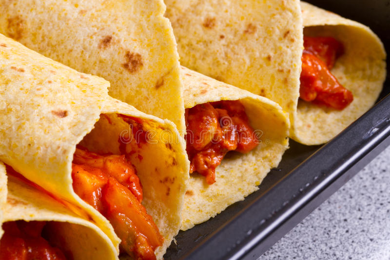 Download Mexican style enchiladas stock image. Image of closeup - 21865679