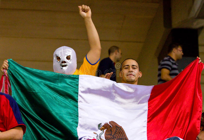 Download Mexican supporters editorial stock image. Image of national - 21962549