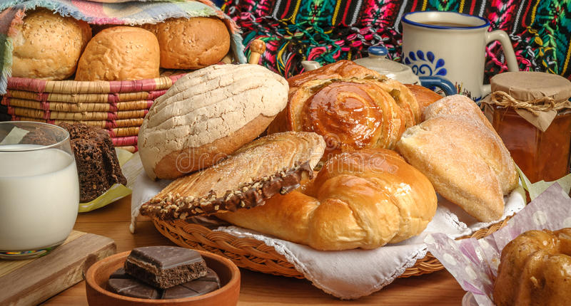 Mexican sweet bread stock photo