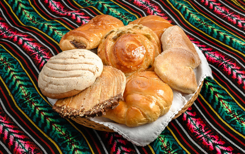 Mexican sweet bread stock image