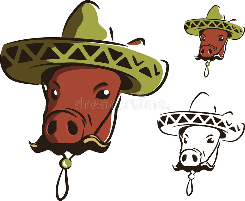 Mexican swine stock illustration