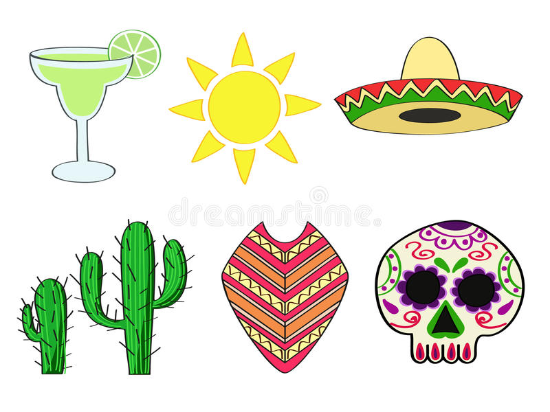 Mexican symbols vector illustration