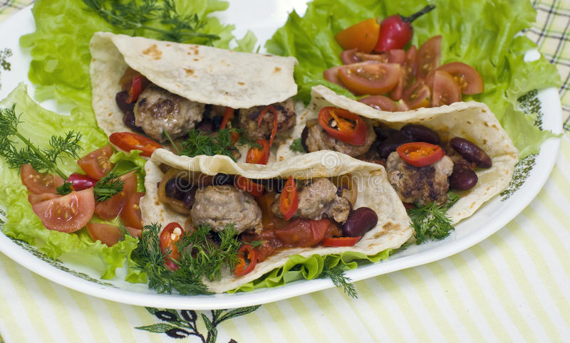Mexican Tacos royalty free stock photo