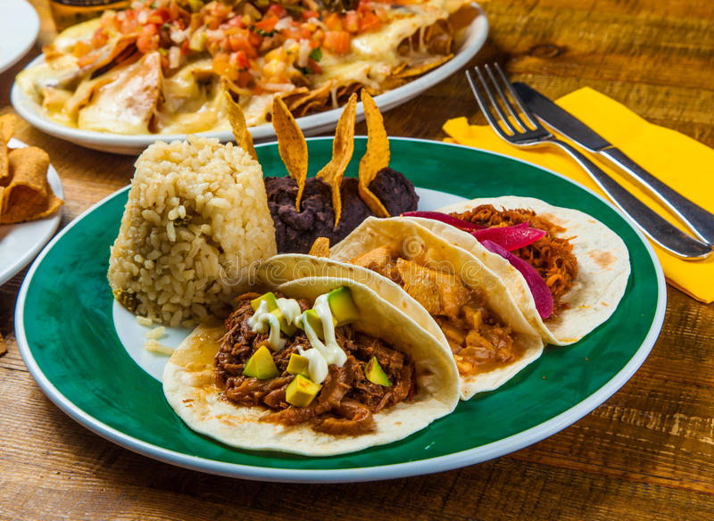 Mexican tacos royalty free stock images
