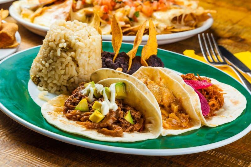 Mexican tacos royalty free stock photos