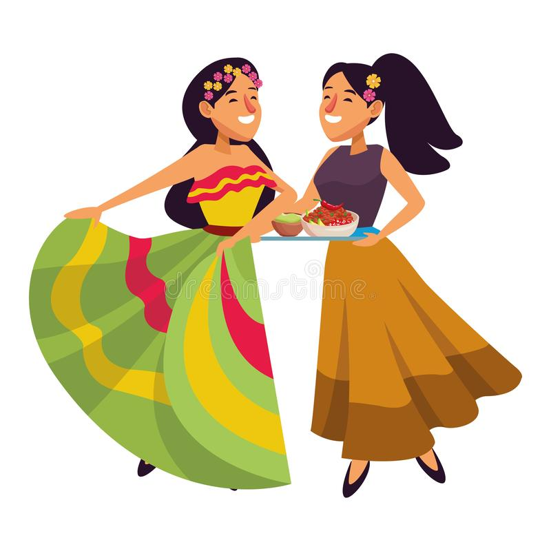 Mexican traditional culture icon cartoon royalty free illustration