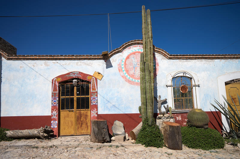 Mexican traditional painted house royalty free stock photo