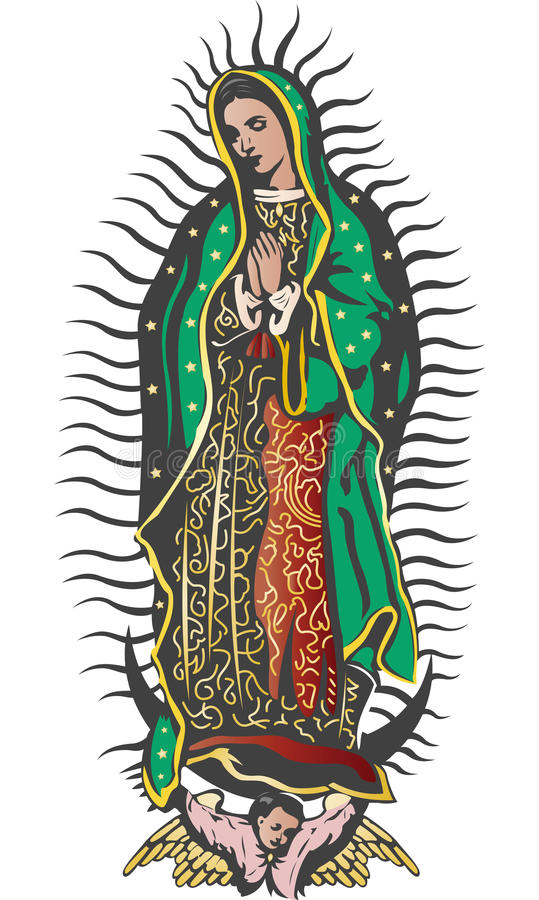 Mexican Virgin of Guadalupe - color vector stock illustration