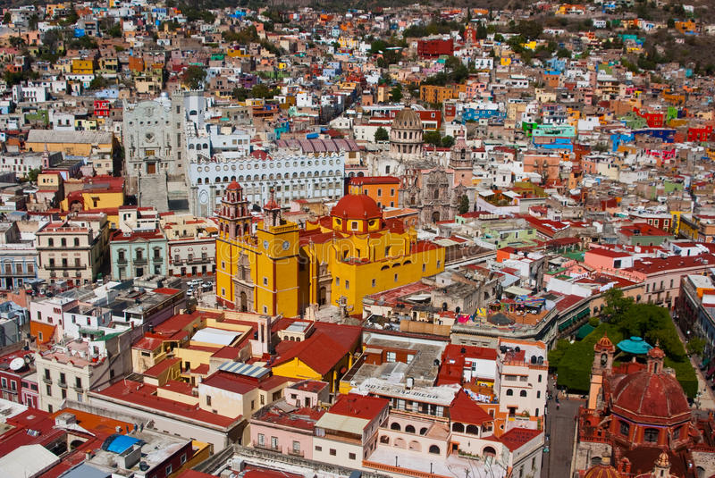Mexican Vista Guanajuato Mexico royalty free stock photo