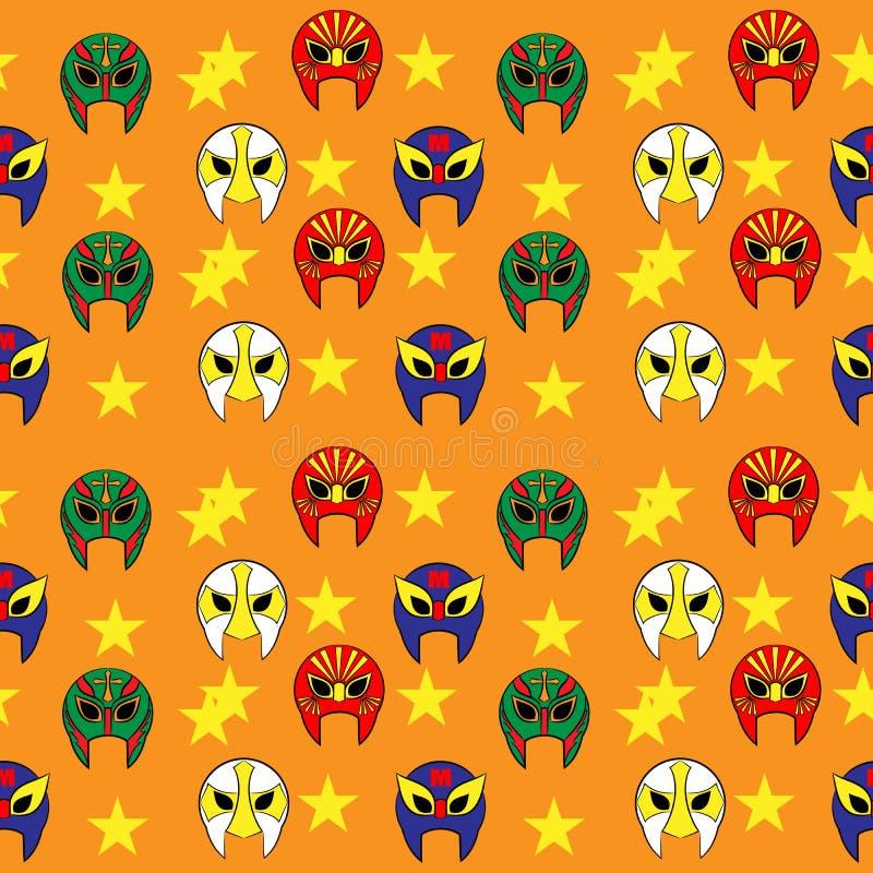 Mexican wrestler mask pattern. Fun vector illustration