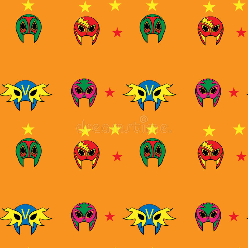 Mexican wrestler mask pattern. Star royalty free illustration