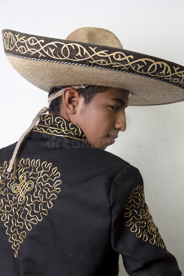 Mexican dancer in traditional costume stock photography