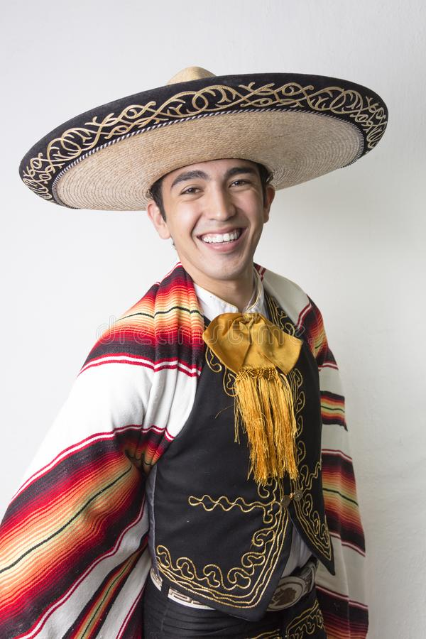 Mexican dancer in traditional costume royalty free stock photos