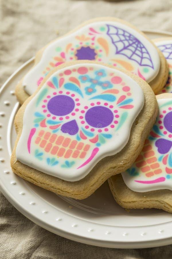 Mexicano caseiro Sugar Skull Cookies imagens de stock royalty free