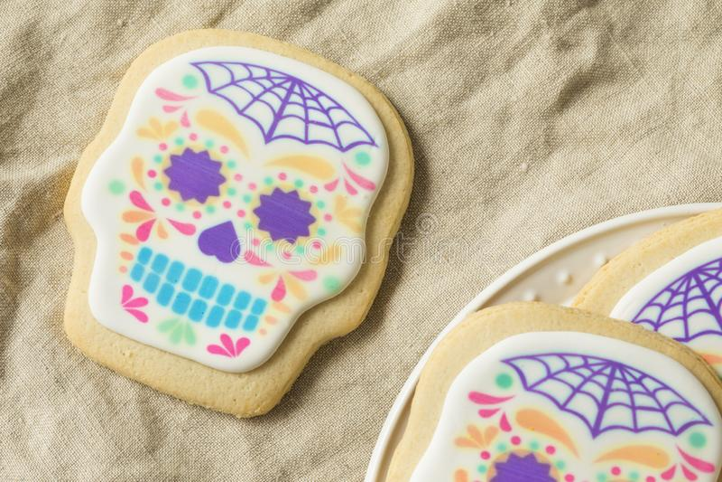 Mexicano caseiro Sugar Skull Cookies foto de stock royalty free