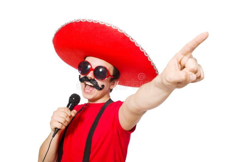 Download Mexicano Divertido Con El Mic Aislado Foto de archivo - Imagen de vaquero, cómico: 41916050