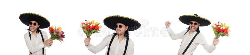 Mexicano divertido con el sombrero del sombrero fotos de archivo