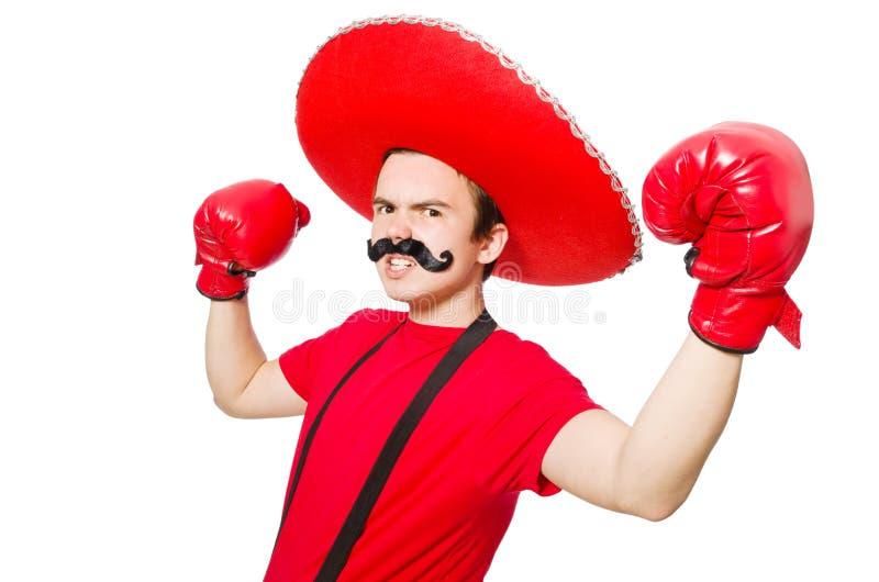 Download Mexicano Divertido Con Los Guantes Del Boxeador Aislados Imagen de archivo - Imagen de ropa, puño: 41916003