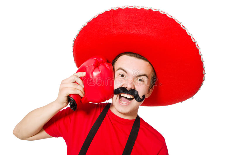 Download Mexicano Divertido Con Los Guantes Del Boxeador Aislados Foto de archivo - Imagen de boxeador, chistoso: 41916006