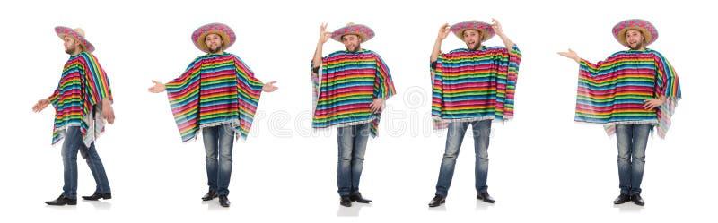 Mexicano engra?ado isolado no branco imagem de stock