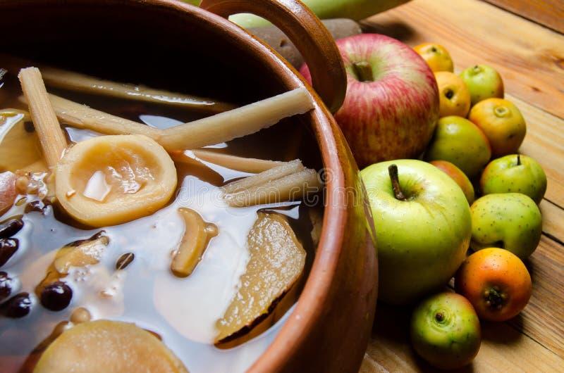 Mexicano & x22; ponche& x22; fruto imagens de stock