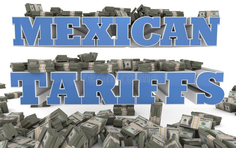 Mexicano tarifa - imigração ilegal - a ilustração 3D imagem de stock