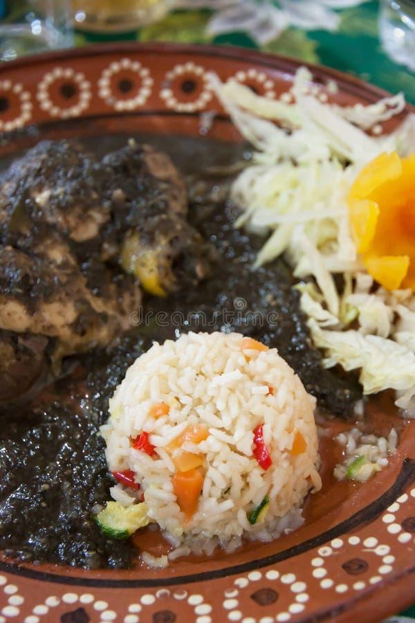 Mexicano toupeira de huitlacoche imagens de stock royalty free