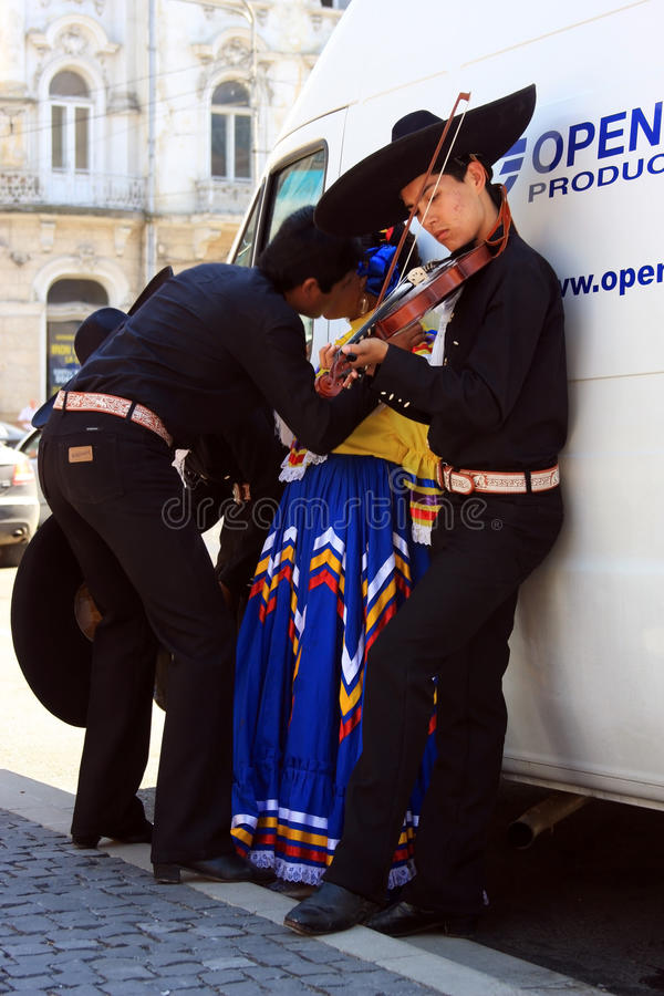 Mexicans at a festival stock images