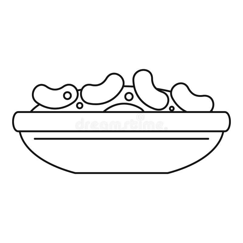 Mexicansk bönasymbol, översiktsstil vektor illustrationer
