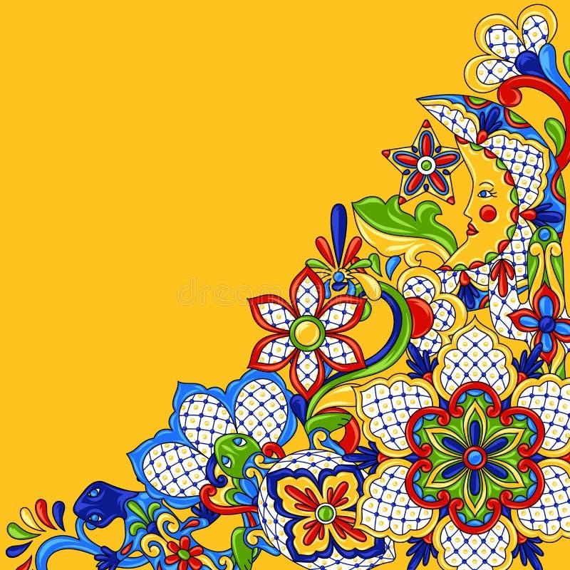Mexicansk bakgrundsdesign stock illustrationer