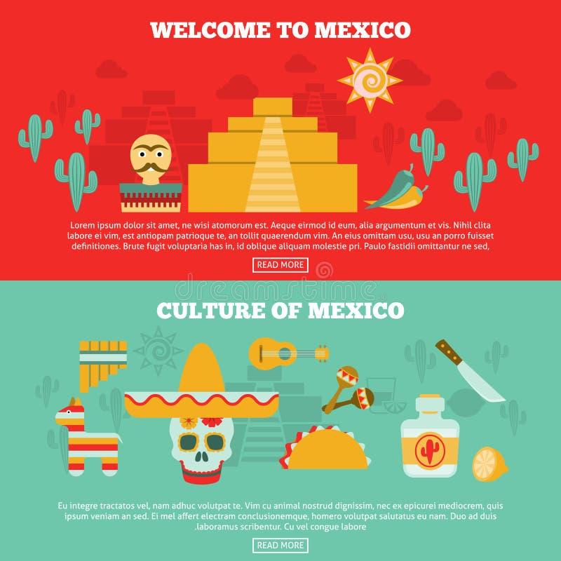 Mexicansk baneruppsättning stock illustrationer