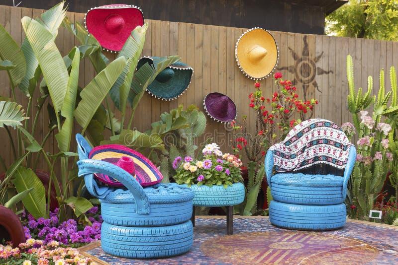 Mexicansk blommaträdgård arkivfoto