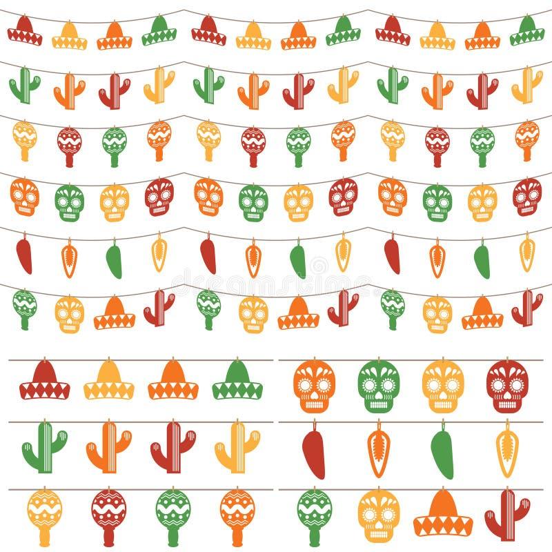 Mexicansk bunting royaltyfri illustrationer