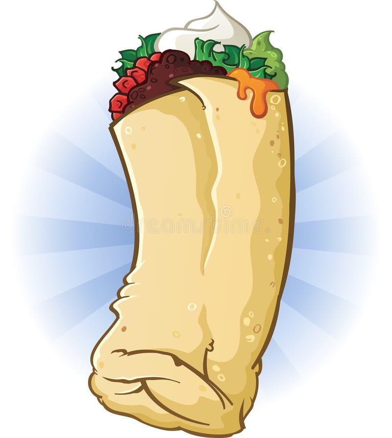 Mexicansk Burrito vektor illustrationer