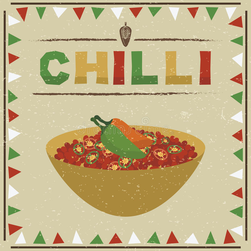 Mexicansk chili stock illustrationer