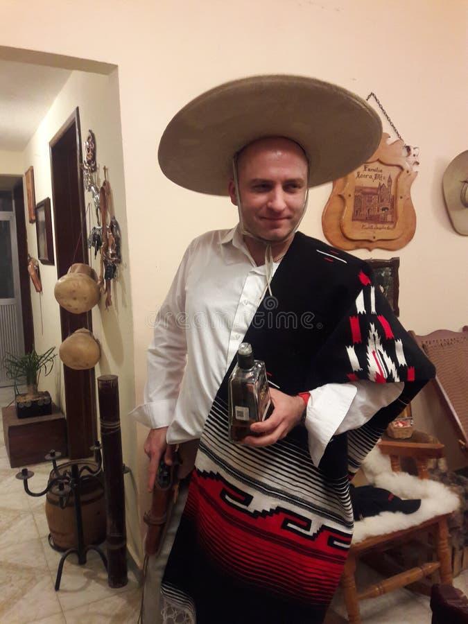 Mexicansk cowboykultur i den nordliga Mexico royaltyfri bild