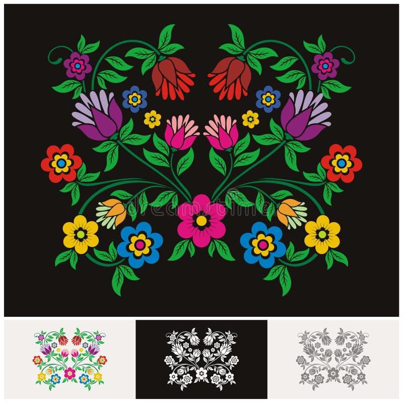 Mexicansk etnisk blom- vektor med älskvärd och förtjusande design royaltyfri illustrationer