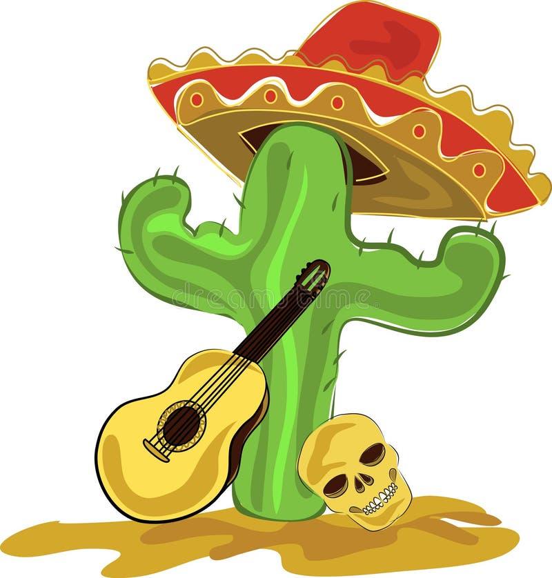 Mexicansk kaktus stock illustrationer
