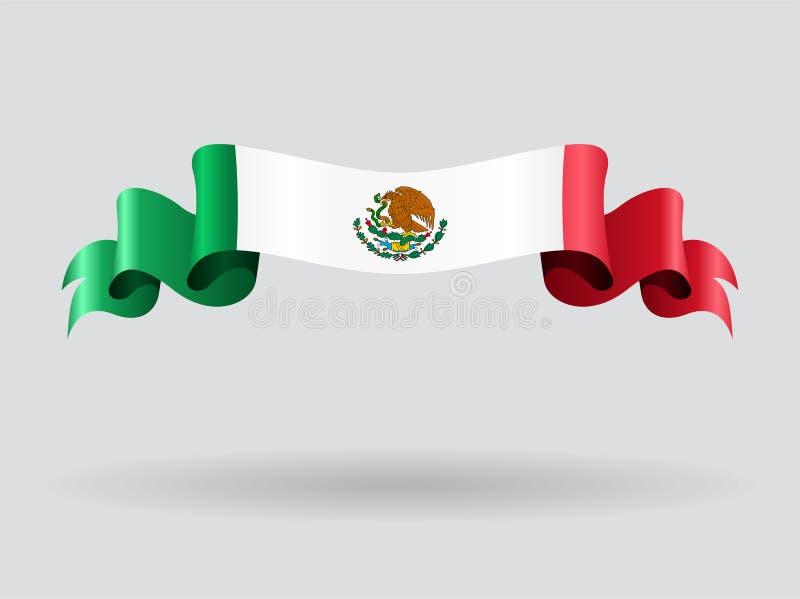 Mexicansk krabb flagga också vektor för coreldrawillustration vektor illustrationer