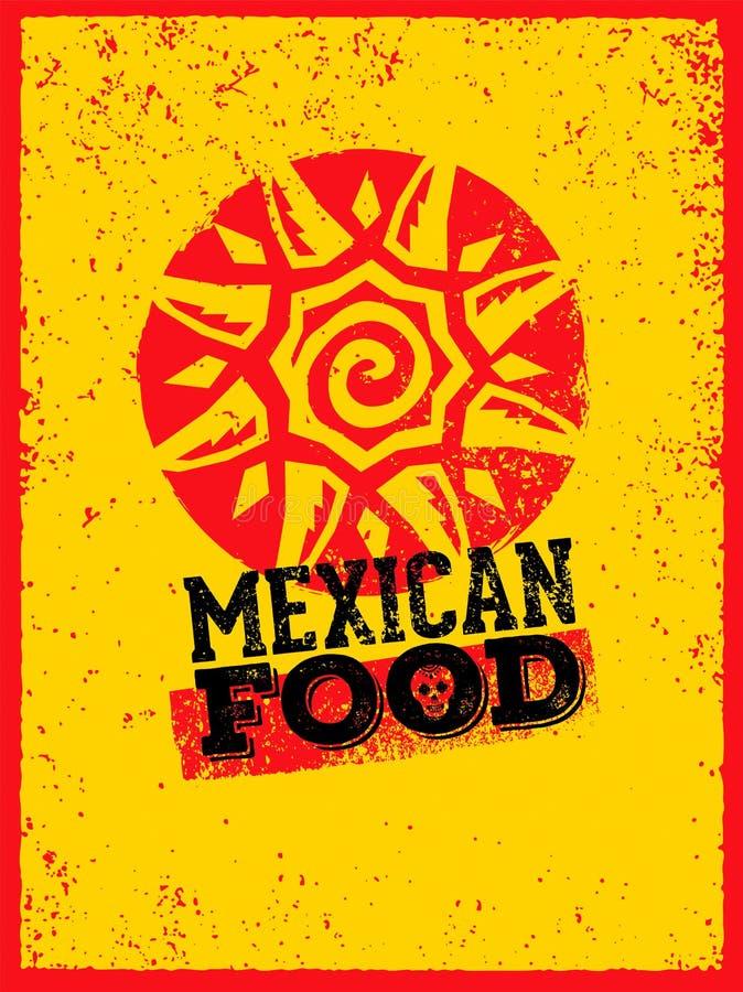 Mexicansk mall för matlogodesign För mållogotyp för vektor traditionell bakgrund för illustration stock illustrationer