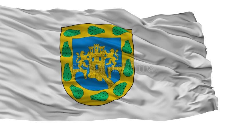 Mexicansk stadsflagga för federalt område, Mexico som isoleras på vit bakgrund vektor illustrationer