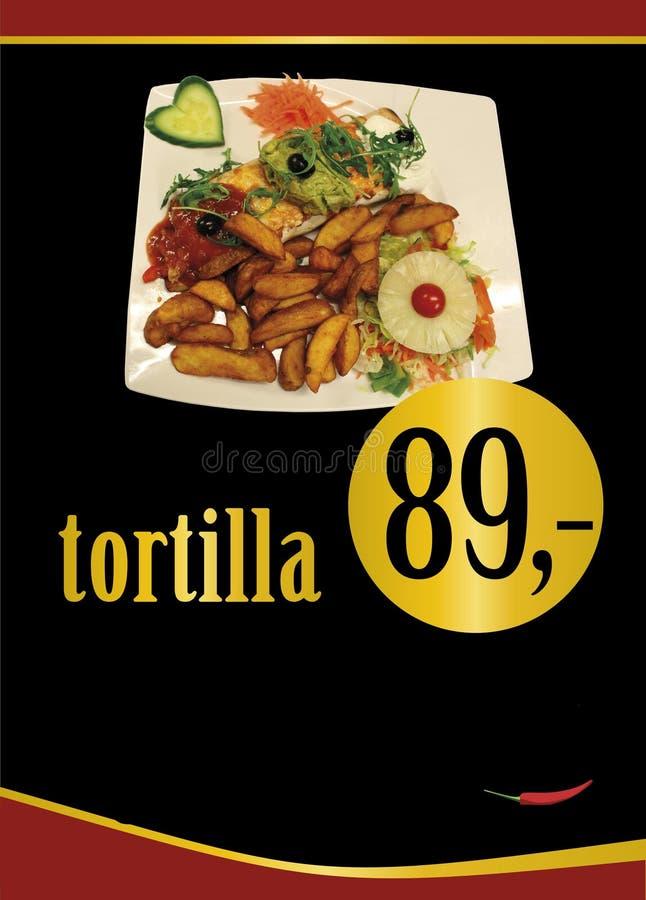 Mexicansk tortilla Mexicansk fajita mexikanskt omslag Tortillaplattor royaltyfria bilder